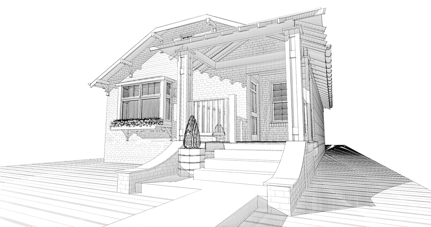 Front Entry Remodel - Conceptual rendering