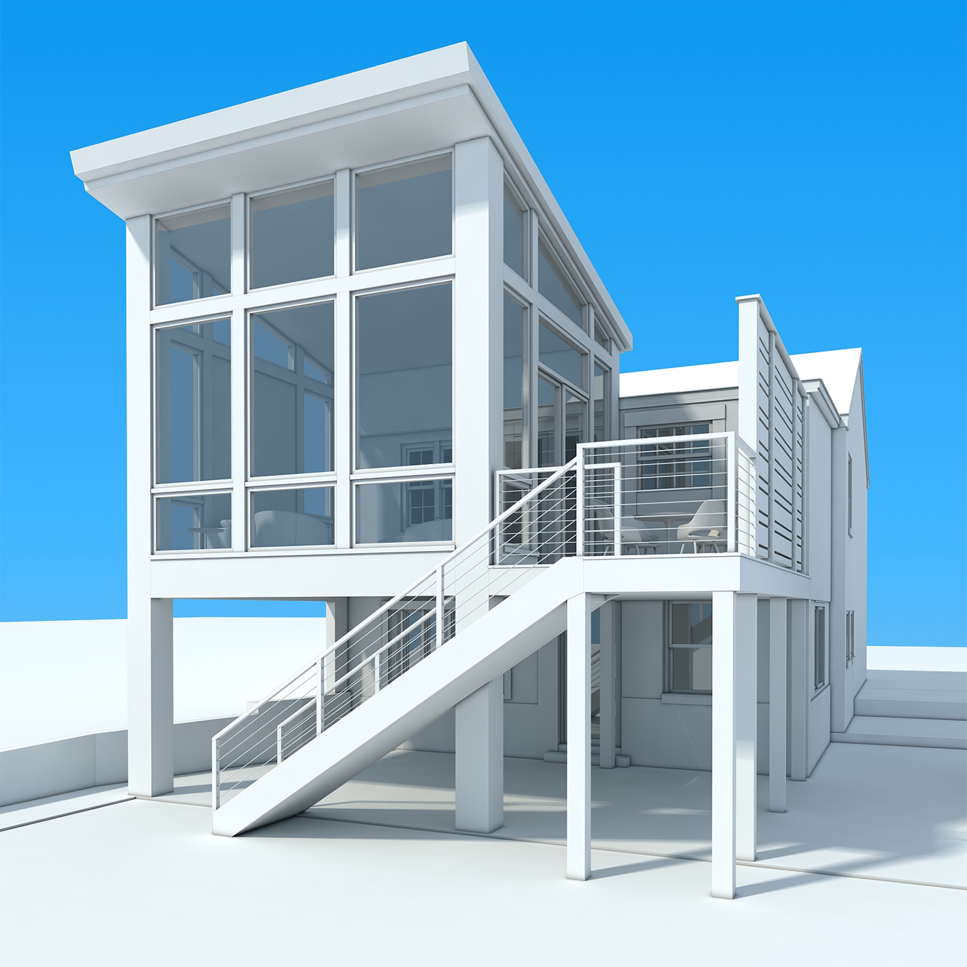 Home Sunroom Addition - conceptual rendering